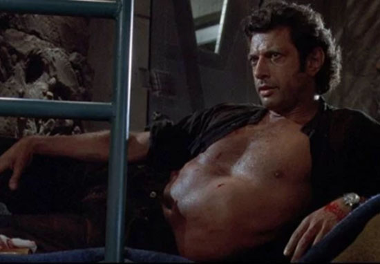 A 25ft Statue Of Jeff Goldblum In Jurassic Park Appears In London jurassic park