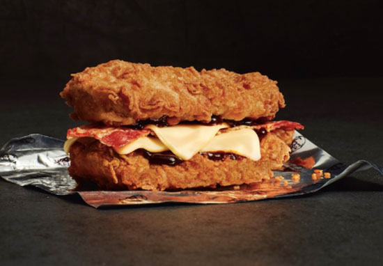 kfc double down chicken sandwich