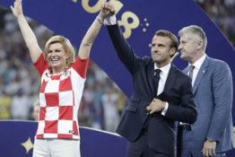 Kolinda Grabar-Kitarovic and Macron