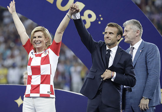Croatia President Wins Everyones Heart With Her Huge Support For The Team kolinda1