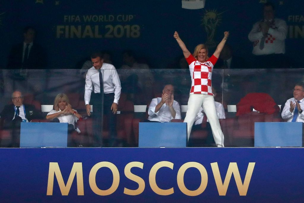 Croatia President Wins Everyones Heart With Her Huge Support For The Team kolindaGETTY