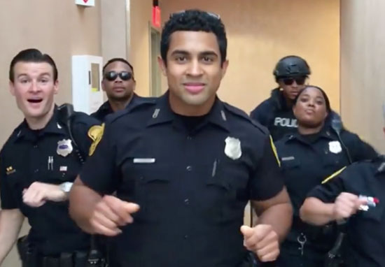 Police Lip Sync to Bruno Mars