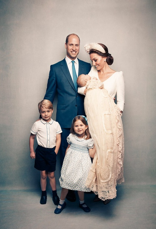Kate Middleton, mum of three children - at prince louis christening