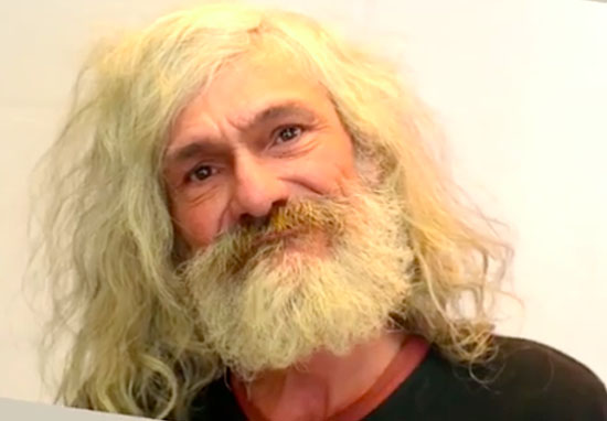 Homeless Man Breaks Down After Getting Incredible Makeover makeover wt
