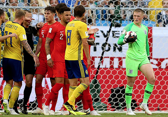 Jordan Pickford v Sweden