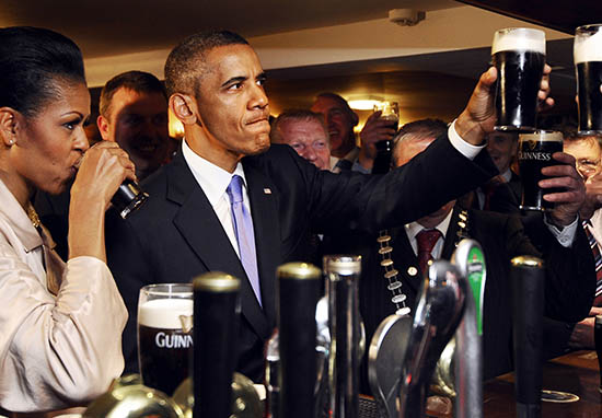 obama guinness ireland
