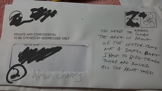Postman sends threat