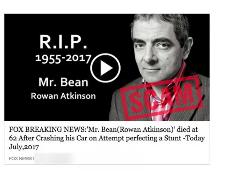 Rowan Atkinson fake scam