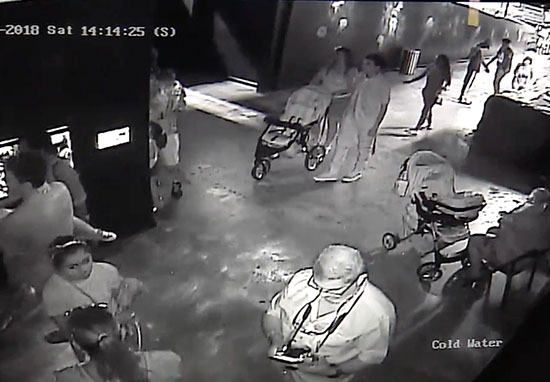 CCTV footage men with pushchair