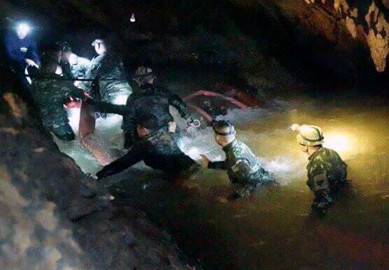 Thai Navy Seals in cave