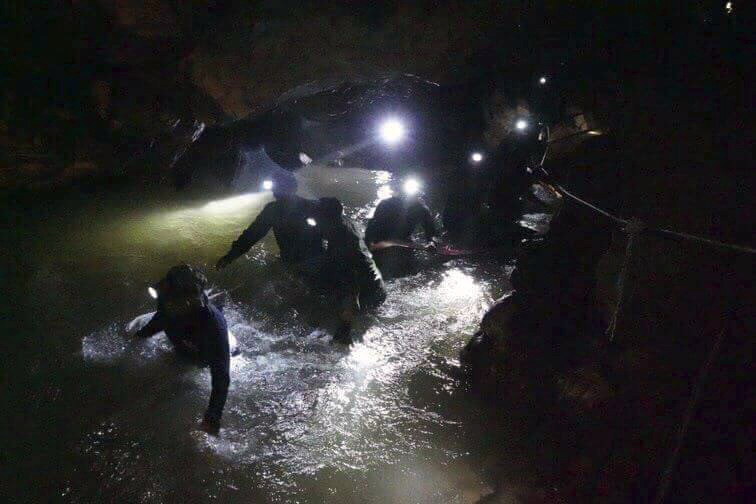 Thai navy in cave