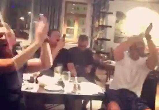Gary Lineker, Alan Shearer And Rio Ferdinand Sing Three Lions At Post Match Dinner three lions pundits web