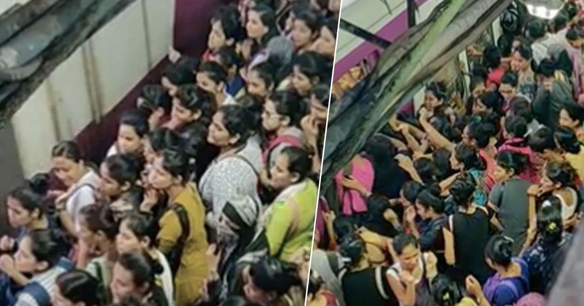 Indian Train At Rush Hour Looks Like Absolute Chaos train fb