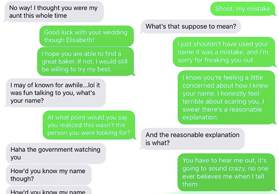 alex hall wrong number text