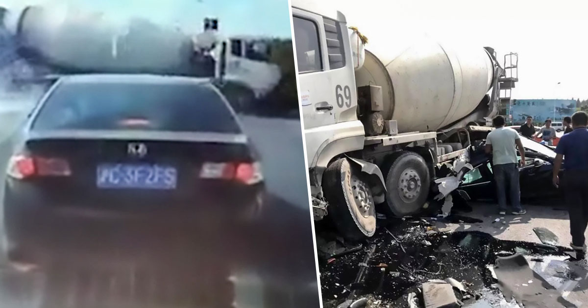 Cement Lorry crashed into lorry