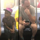 NYC Subway Passenger Hands Adorable Boy His Phone