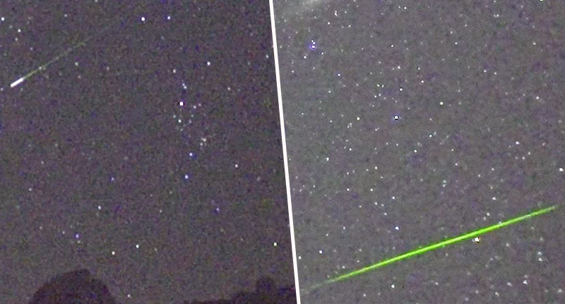 Spectacular Green Streaks Light Up The Sky During Perseid Meteor Shower FaceThumb 13.39.48 Shooting Stars