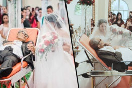 Dying father's final wish comes true on daughter's wedding day.