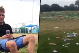 Guy who was left at festival on his own