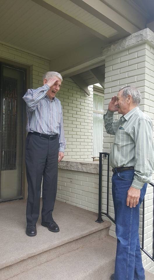 Grandad Salutes Old Navy Commander After Not Seeing Each Other For 50 Years IMG 6393