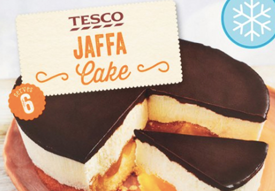 Tesco is now selling big Jaffa Cake.