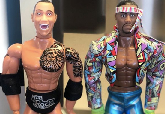 Kevin Hart and The Rock feud over action figures.