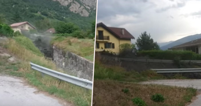 Huge mudslide in Switzerland.