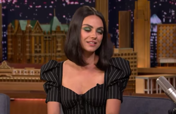 Mila Kunis discusses honeymoon.