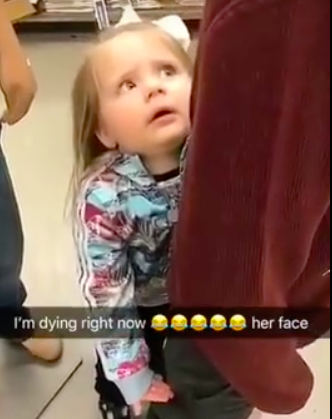 Girl refuses to leave mannequin