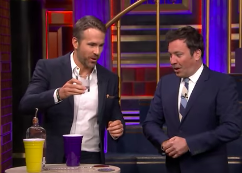 Jimmy Fallon plays drinking game with Ryan Reynolds.