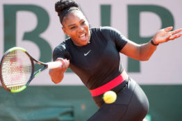Serena Williams banned from wearing black catsuit.