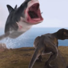 New Sharknado Film Has A T-Rex Fighting A Shark