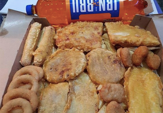 Takeaway Slammed For Offering 7,000 Calorie Box With Irn Bru For £10 Takeaway A