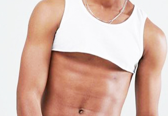 ASOS male crop top