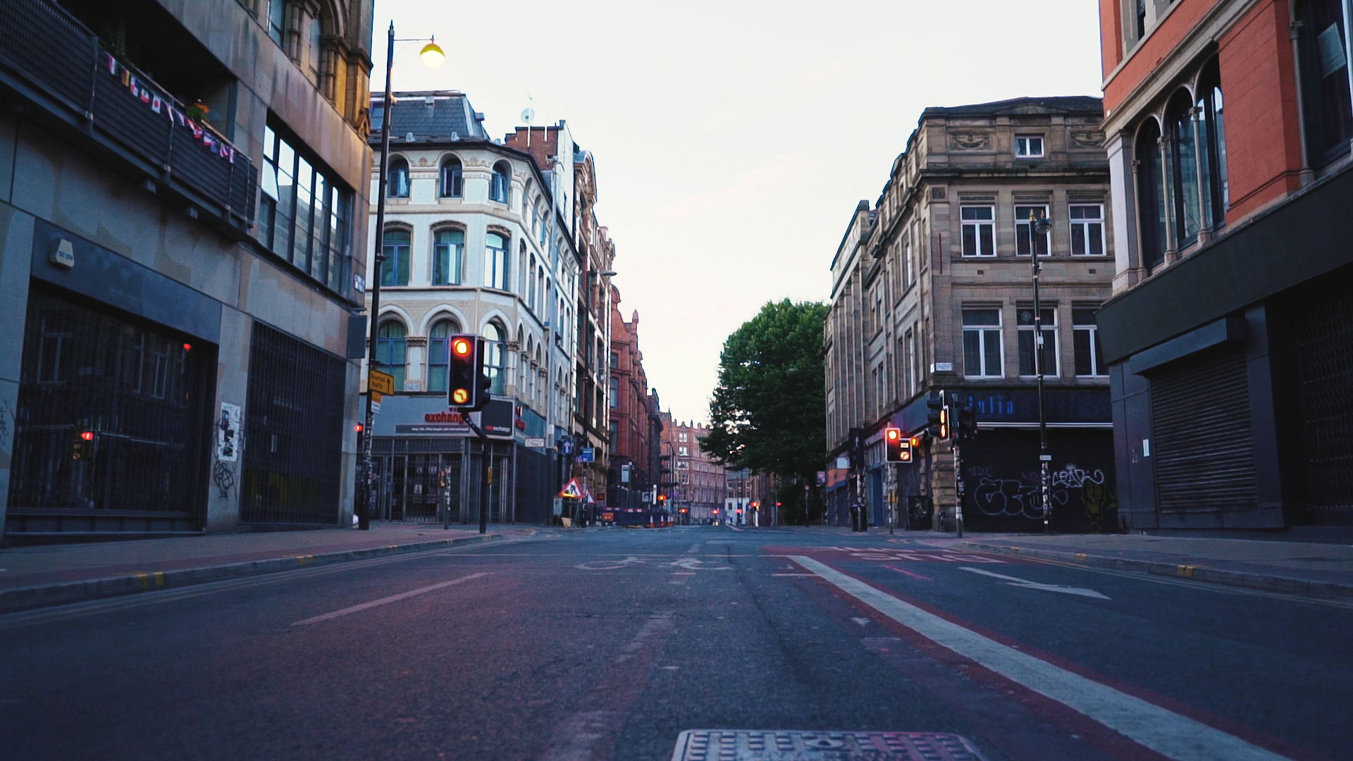 A high street in Manchester, where Spice is dealt to the homeless
