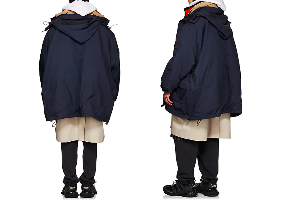balanciaga layered coat