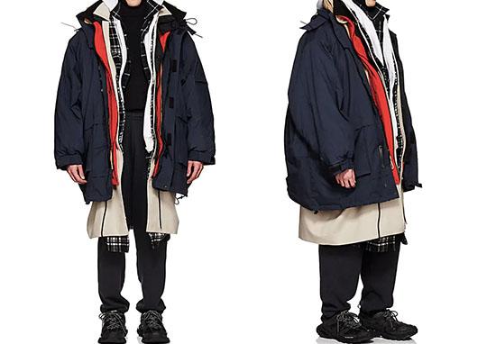 balanciaga layer coat