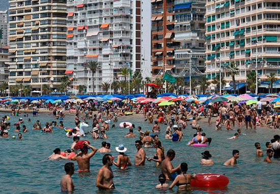 Benidorm Tourists Flee Beach After Floods Turn Streets Into Rivers benidorm