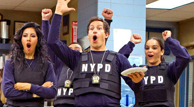 Brooklyn Nine-Nine cast members, Amy, Rosa, Jake
