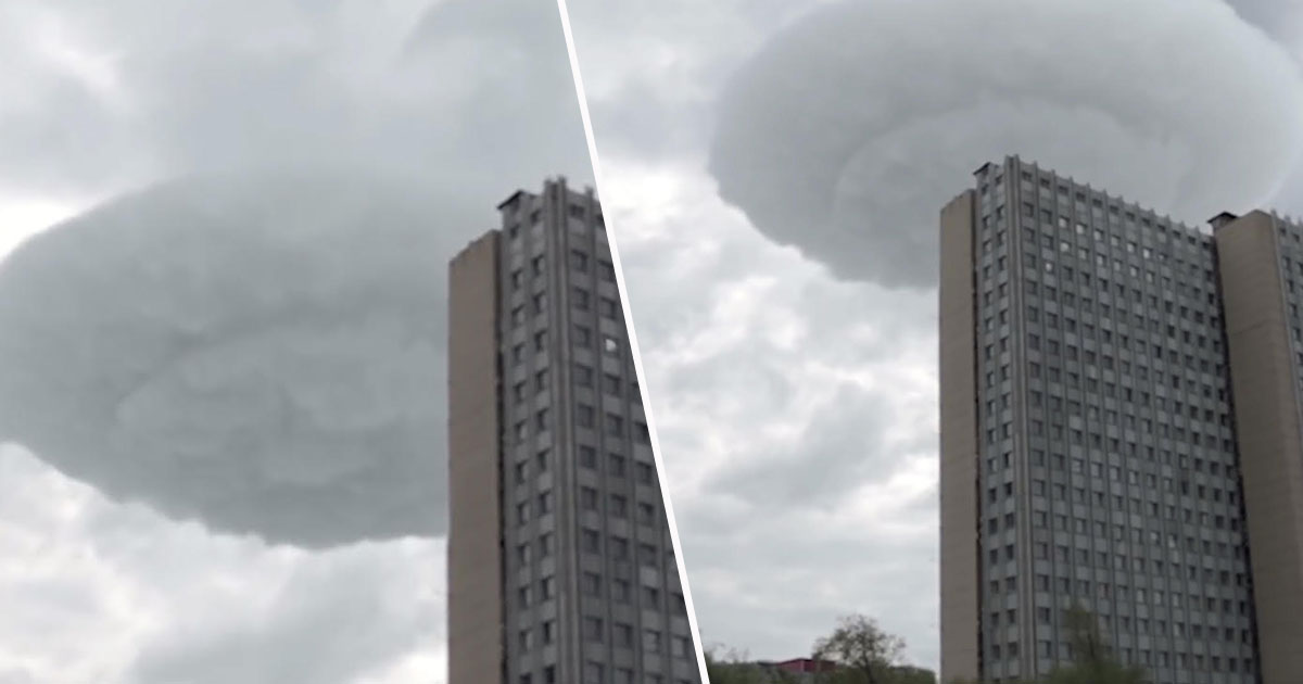 Bizarre UFO Cloud Seen In The Skies Above Moscow cloudCENa