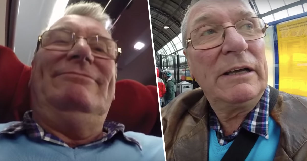 Howard Newman holds GoPro wrong way around during trip to Amsterdam