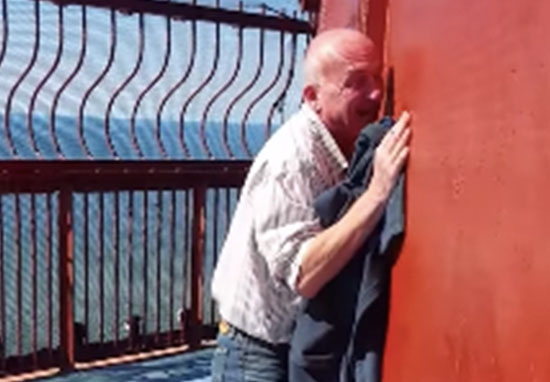 Man Cant Handle Heights At Top Of Blackpool Tower keith1