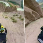 Guy Riding Down Canyon On A Bike Will Make Your Palms Sweaty