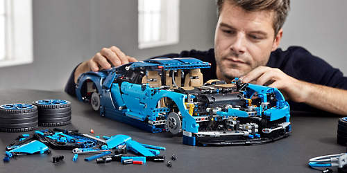 Bugatti Made Entirely From LEGO Actually Drives %name