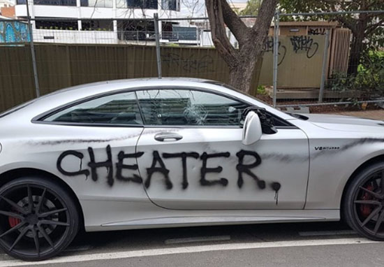 Woman vandalises ex's car