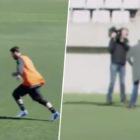 Lionel Messi Casually Nutmegs A Reporter From 50 Yards In Training