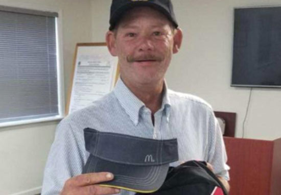 Homeless man starts at McDonald's