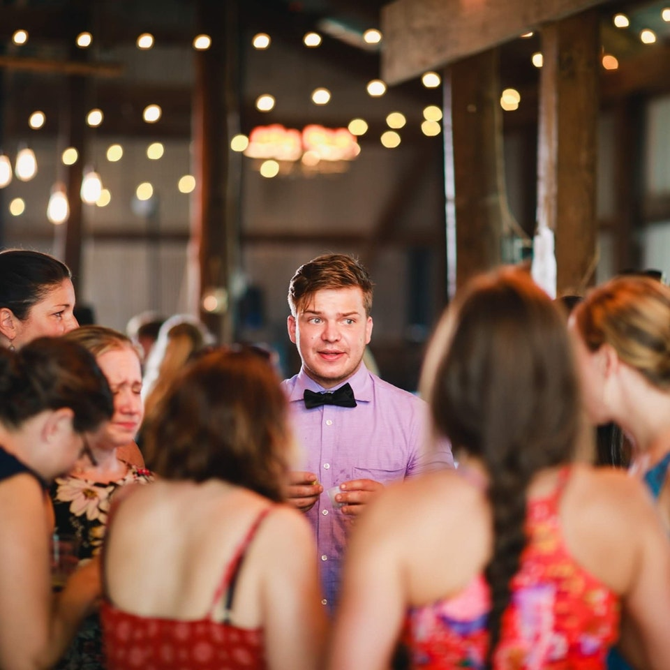 Guy who was one of only single men at wedding