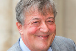 Stephen Fry smiling