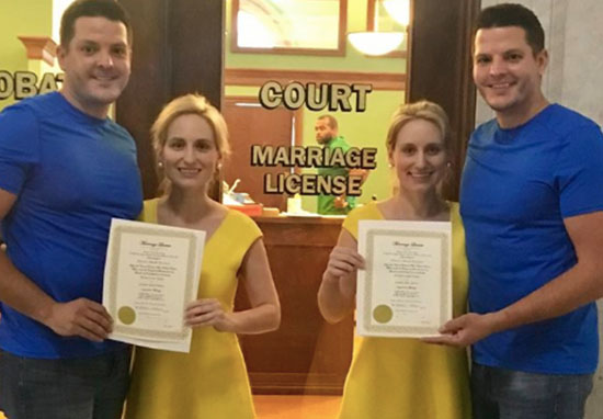 Identical Twin Sisters Marry Identical Twin Brothers In Joint Ceremony twins1
